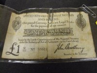 Regency Era Currency: One pound note, legal tender, 1818.