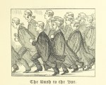 """""""The Rush to the Bar"""" from from page 31 of 'Ballads of the Bench and Bar; or, Idle Lays of the Parliament House. 1882."""