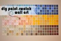 diy paint swatch wall art