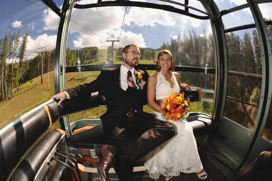 Vail Gondola wedding photos