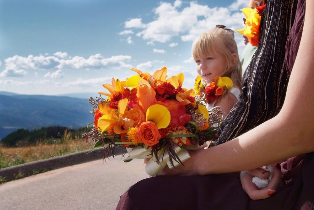 Vail Colorado mountaintop wedding