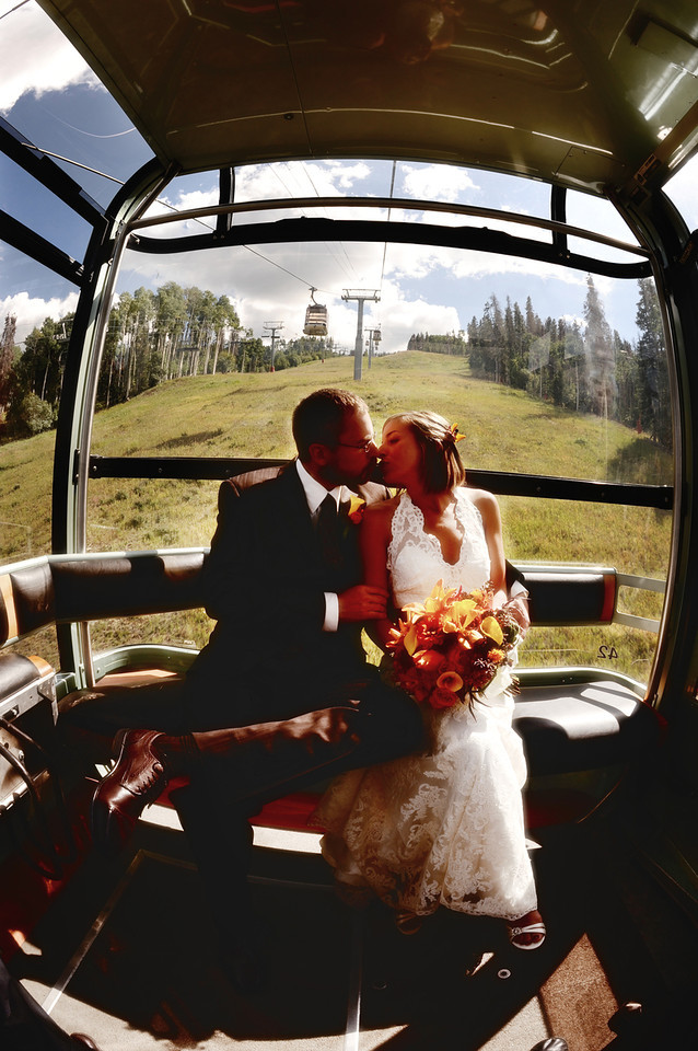 Eagle Bahn Gondola wedding