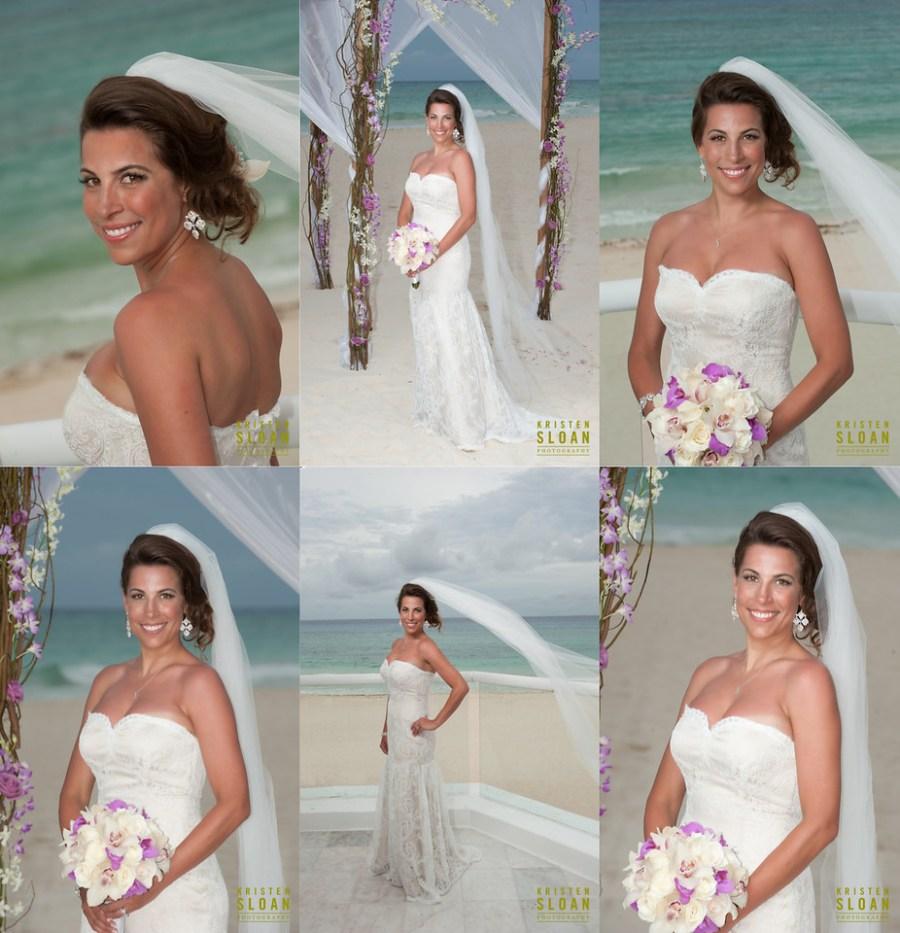playa del carmen mexico wedding bride