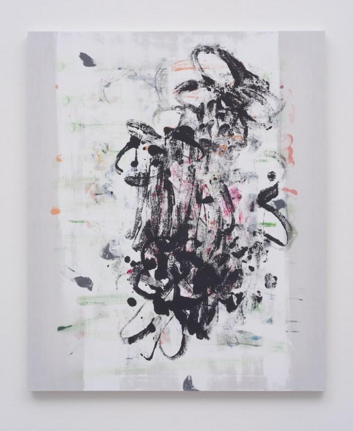 Untitled, 2014, acrylic on silk, 24 x 20 inches