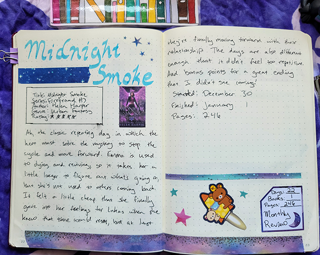 My review for Midnight smoke