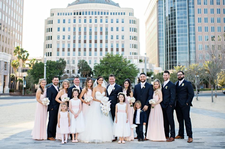 Regal downtown Dr Phillips Center wedding in Orlando  Orlando Wedding Photographers  Kristen