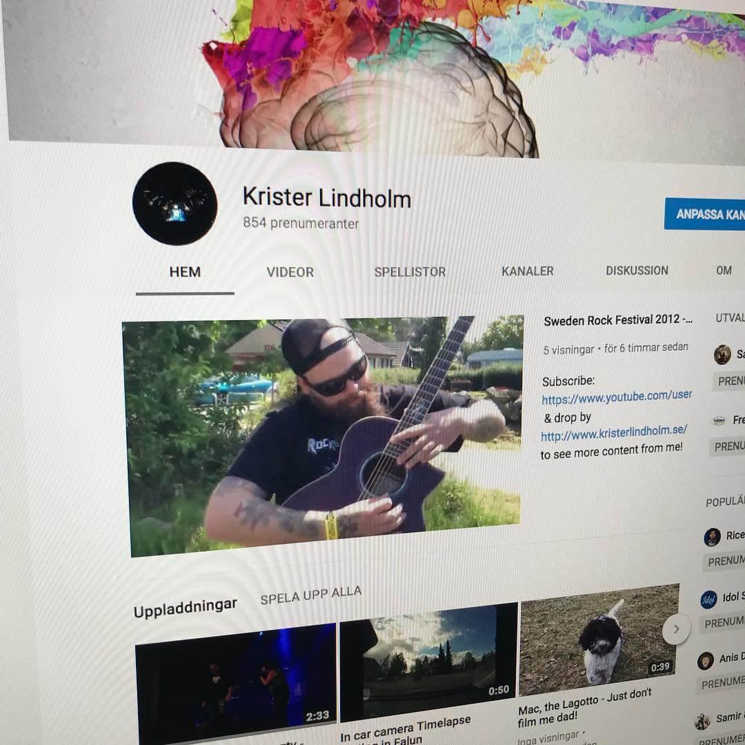 Find me on YouTube: https://www.youtube.com/user/kristerlindholm