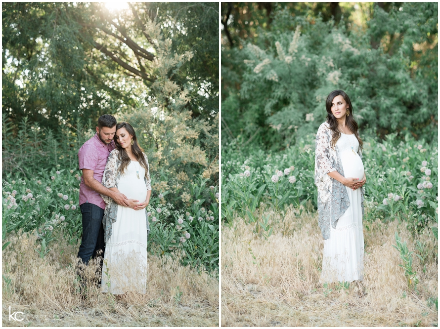 Bohemian Lakeside Maternity Session | Utah Kristina Curtis Photography
