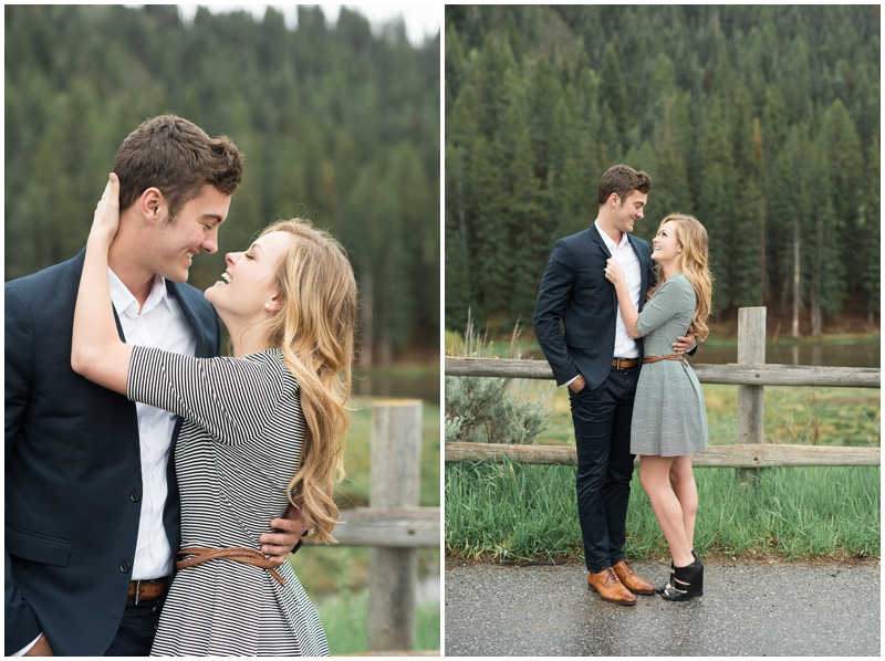 Beautiful summer engagements, pine trees and a lake, utah wedding photography www.kristinac