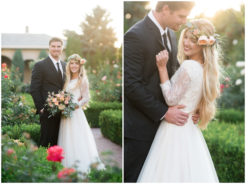 formals, bridals, summer bridals, thanksgiving point, summer florals,  bouquet, summer, utah photography, floral crowns,  tulle skirt, long veil, www.kristinacurtisphotography.com