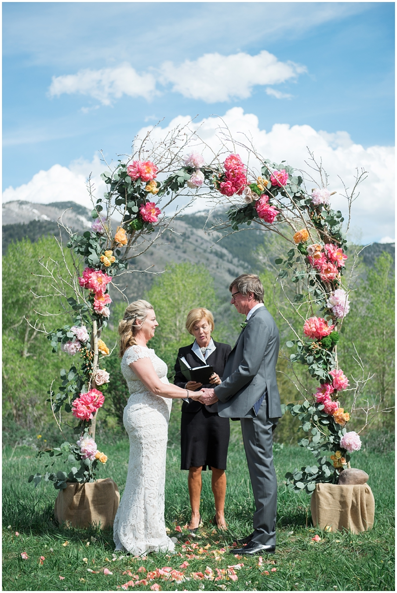 Destination Park City Wedding | Kristina Curtis Photography, archway, wedding ceremony