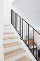 Metal Railings + A Sleek Staircase Design   Kristina Lynne