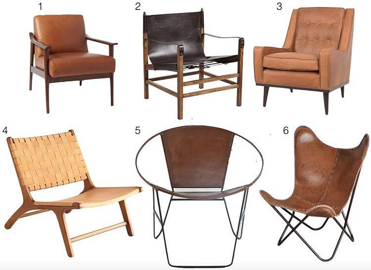 My favorite brown leather chairs – budget, pretty and timeless
