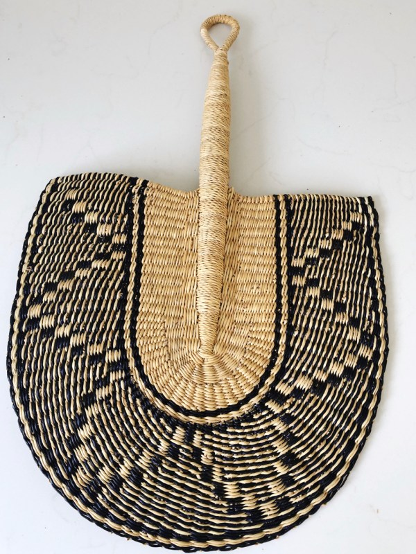 beautiful handwoven african fan