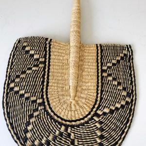 beautiful handwoven african fan