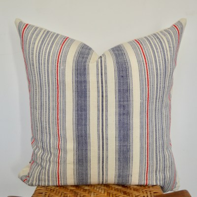 vintage hmong striped pillow