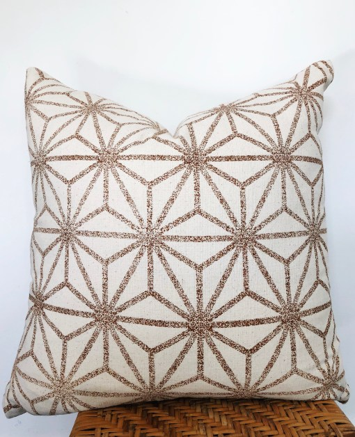 vintage hmong hemp embroidered pillow