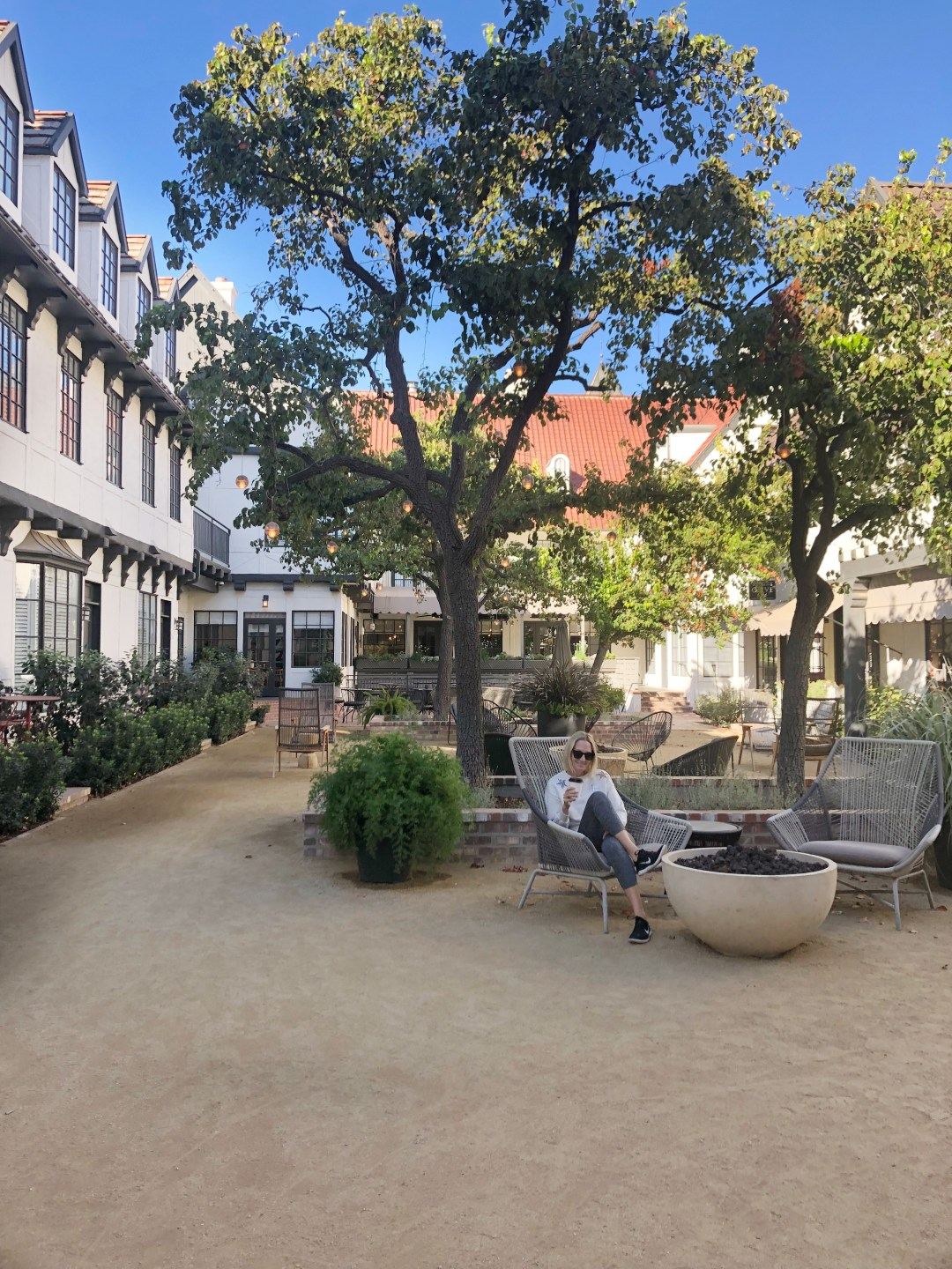 The landsby courtyard