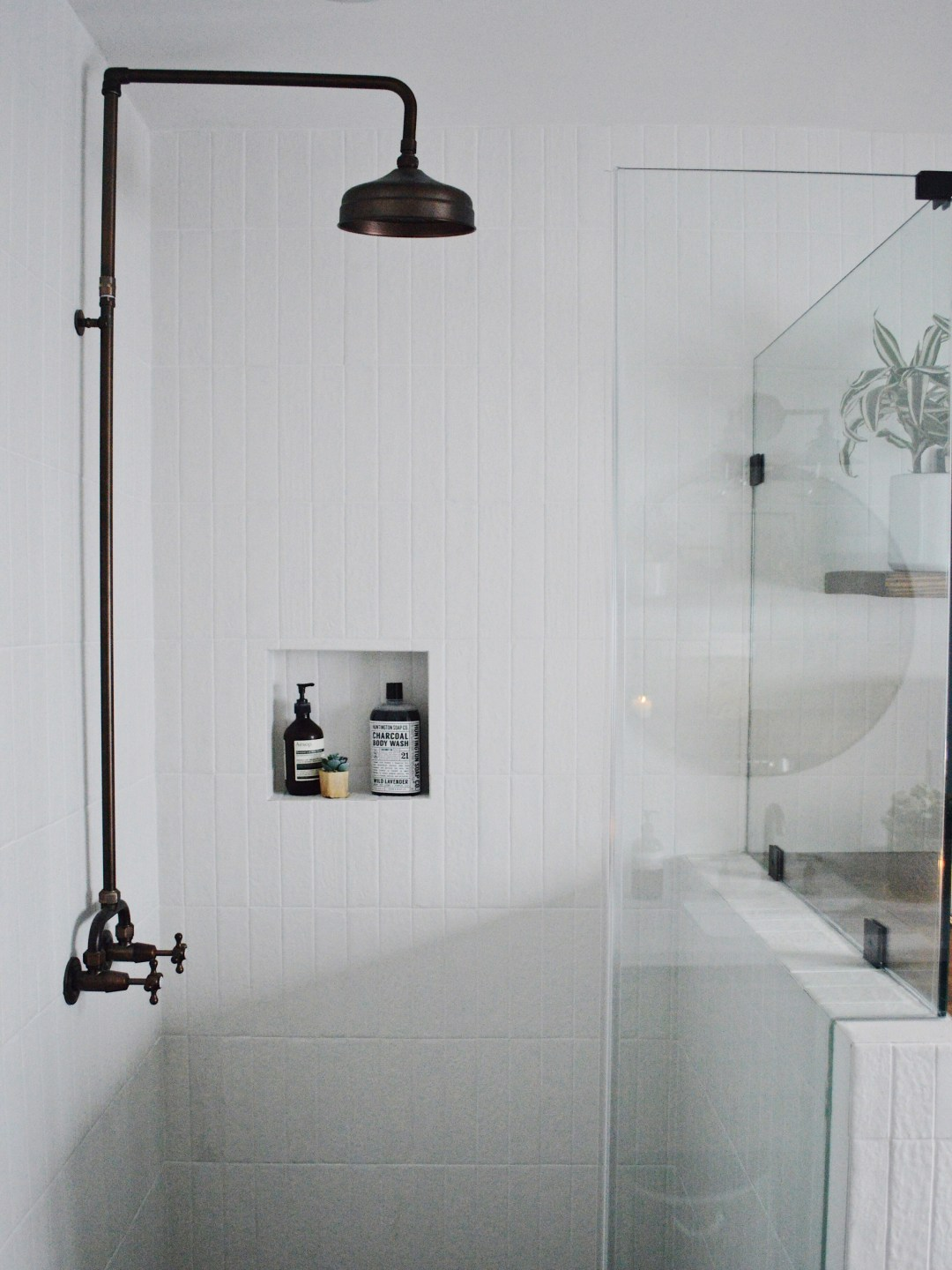 shower: Bedrosians tile and Signature Hardware faucet