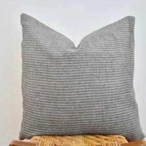 vintage striped hmong pillow