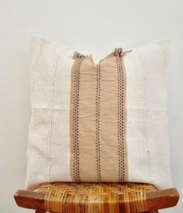vintage hmong + mudcloth pillow