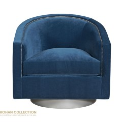 Swivel Chair Small Modern Leather Chairs Georgina Designer From The Kristin Cotton Velvet Denim