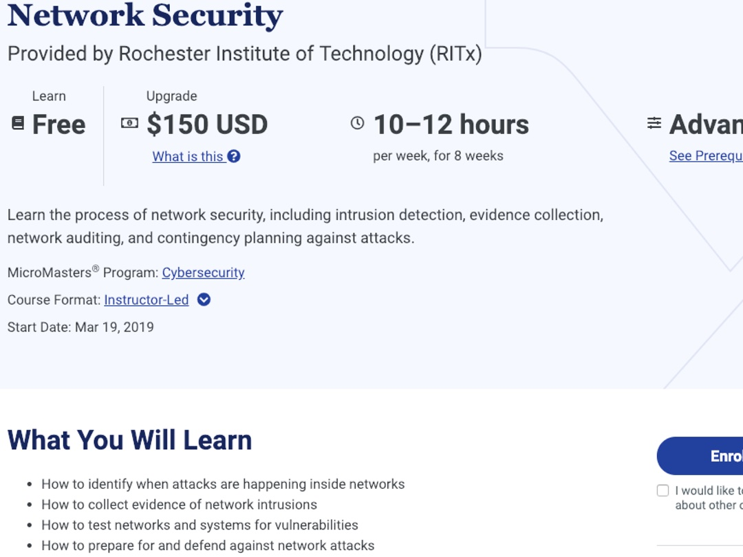 Micromasters in Cybersecurity with RITx - by Kristine Camins