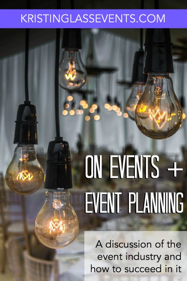 "On events and event planning - When you think ""event planner"", what do you think about?"