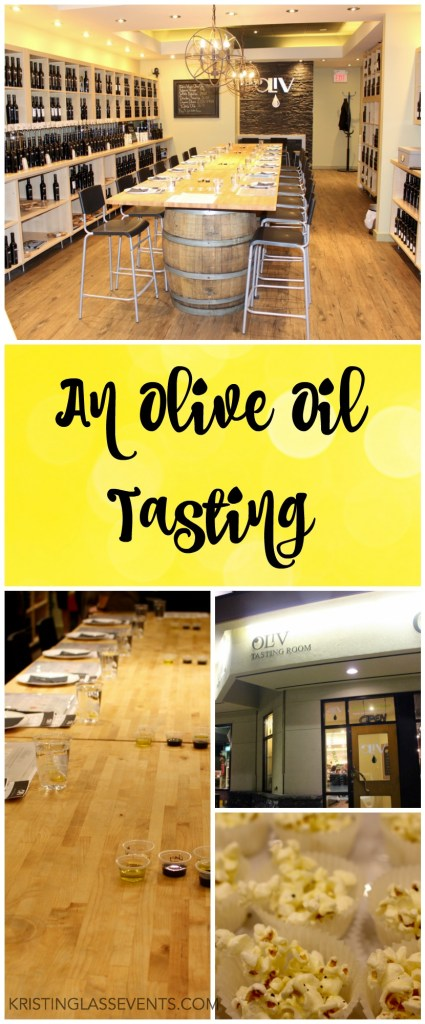 An olive oil tasting is a unique networking idea that gives the group something to do together