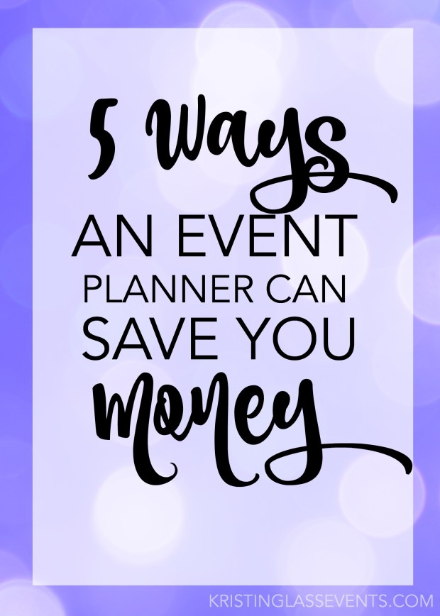 Hiring a planner can seem like an expensive step when putting together your event, but I promise it doesn't have to be that way. Check out 5 ways hiring an event planner can save you money!