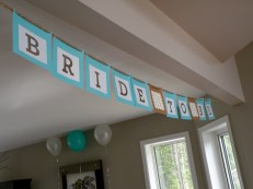 Watch for a DIY post on how I made this lovely custom banner!