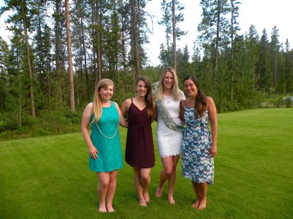 A nice little shot of myself, the bride, and the other two girls in the bridal party! This night was so special for all of us.
