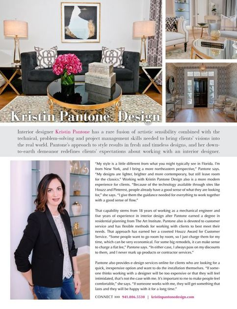 Press Kristin Pantone Design Interior Designer And