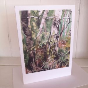 Yateley Common woodland greetings card