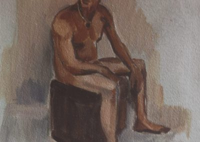 Oil figure sketch