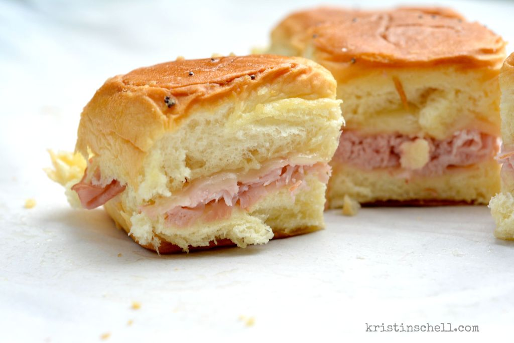 Ham and Cheese Party Rolls | kristinschell.com
