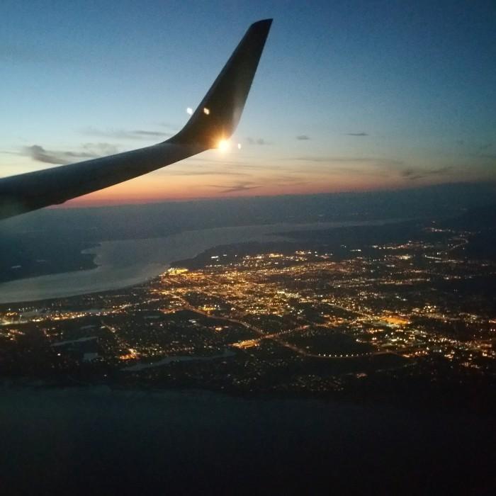 Landing in Anchorage
