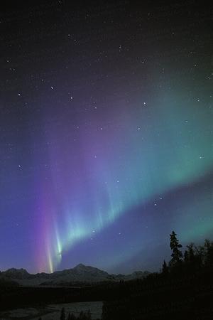 Aurora over Denali and Big Dipper