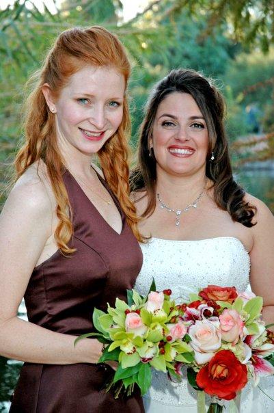 Lisa and I - my wedding