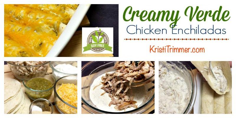 Soy Free Creamy Chicken Enchiladas FB