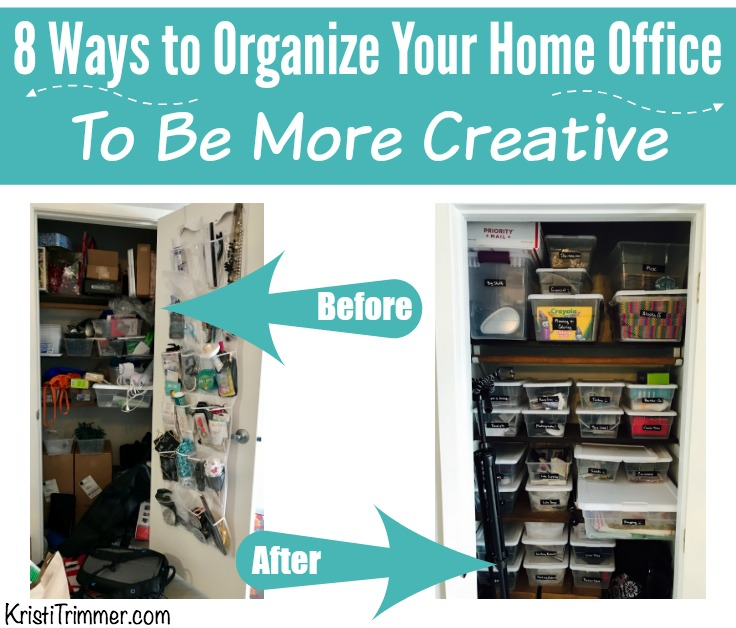 8 Ways to Organize Your Home Office to be More Creative FB 2