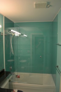European style, back painted glass walls | Kristy Glass Co.