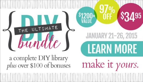Ultimate DIY Bundle, January 21-26, 2015
