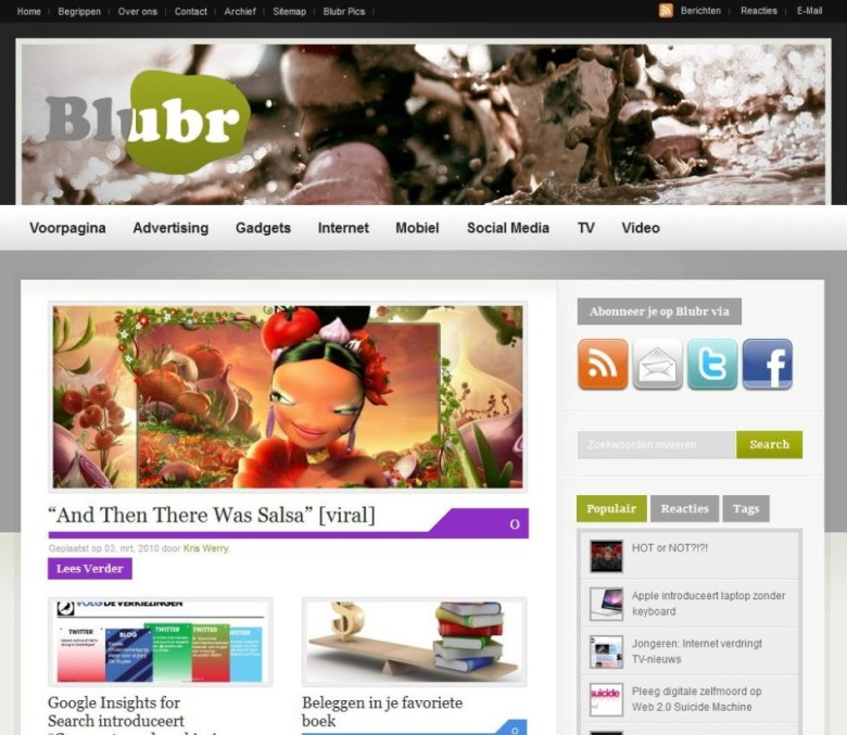 Blubr.nl screenshot