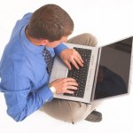 Die willekeurige ochtend - laptop