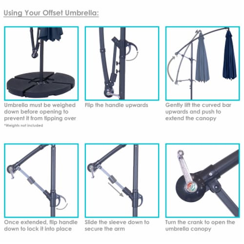 offset solar led light patio umbrella