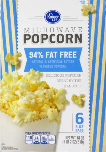 kroger kroger 94 fat free microwave popcorn 6 ct 3 oz