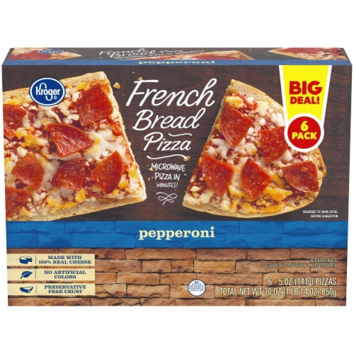 fry s food stores kroger pepperoni french bread pizza 6 ct 5 oz