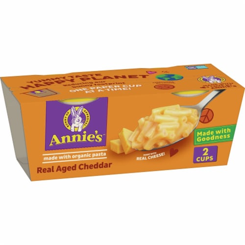 pick n save annie s real aged cheddar macaroni cheese microwave cups 2 ct 2 01 oz