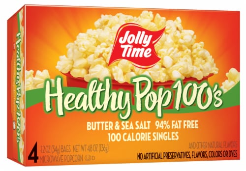 jay c food stores jolly time healthy pop 100s butter sea salt microwave popcorn 4 ct 1 2 oz